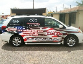 Van Wrapped in Graphics - Vehicle Wraps